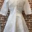 ชุดเดรสเกาหลี พร้อมส่งEmbroidered White Pearl Dress thumbnail 10