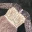 ชุดเดรสเกาหลี พร้อมส่งPastel Purple Embroidered Feathers Luxury Dress thumbnail 12