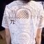 เสื้อผ้าเกาหลี พร้อมส่ง เสื้อสีขาวแขนสั้นเนื้อผ้าฉลุลายลูกไม้ See-Throught ทั้งตัว thumbnail 4