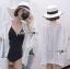 เสื้อผ้าเกาหลี พร้อมส่งเสื้อคลุมผ้าคอตตอนสีขาวชายพู่ปักลายสไตล์โบฮีเมียน thumbnail 4