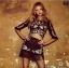 เสื้อผ้าแฟชั่นพร้อมส่ง Love&Lemons Women's Black Mallorca Crop Top & Skirt thumbnail 1