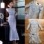 ชุดเดรสเกาหลี พร้อมส่งเดรสผ้าลูกไม้สีฟ้าไลแล็กทรงเมอร์เมด thumbnail 6