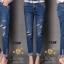 เสื้อผ้าเกาหลี พร้อมส่งกางเกงยีนส์ทรงเดฟ ผ้ายีนส์ฮ่องกง thumbnail 8