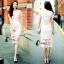 ชุดเดรสเกาหลี พร้อมส่งMini dress ลูกไม้แจนสั้นเนื้อถัก thumbnail 9