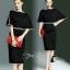 ชุดเดรสเกาหลี พร้อมส่งMini dress สีดำทรงแขนค้างคาวช่วงเอวเย็บตกแต่งคริสตัลสี thumbnail 10