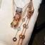 พร้อมส่ง Diamond Bvlgari Necklace สร้อยคอบูการี่เพชรฝังCZ8Aรอบ งาน1:1 thumbnail 4