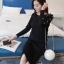 เสื้อผ้าเกาหลี พร้อมส่งเสื้อไหมพรมเนื้อนิ่มละเอียดจับเซ็ตกับกระโปรงยาวผ่าข้าง thumbnail 3