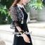 Whity Colar Blacky Flora Lace Dress thumbnail 5