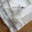 ชุดเดรสเกาหลี พร้อมส่งเดรสยาวเปิดไหล่ผ้าคอตตอนผสมซิลค์สีขาวประดับลูกไม้ thumbnail 9