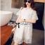ชุดเดรสเกาหลี พร้อมส่ง มินิเดรสผ้าลูกไม้สไตล์เจ้าหญิง thumbnail 6