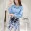 เสื้อผ้าเกาหลี เซ็ท 2 ชิ้นสุภาพ เสื้อ+กระโปรงเสื้อผ้าจอร์เจียร์ใส่สบายสุดๆ thumbnail 4