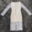 ชุดเดรสเกาหลี พร้อมส่งชุดLong dress ลูกไม้สีเทาเรียบหรู thumbnail 7