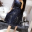 ชุดเดรสเกาหลี พร้อมส่งGalaxy Diamond Luxury Dress thumbnail 4