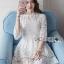 Isabelle Easy Sunday Feminine White Lace Dress thumbnail 3