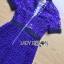 ชุดเดรสเกาหลี พร้อมส่งSelf-Portrait Scallop Edged Midi Dress in Burgundy thumbnail 14