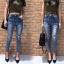 เสื้อผ้าเกาหลีพร้อมส่ง กางเกงยีนส์เอวสูงทรงสกินนี่ สไตล์ Zara thumbnail 4