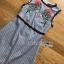 ชุดเดรสเกาหลี พร้อมส่งเดรสแขนกุดผ้าคอตตอนลายสก็อตปักลายดอกกุหลาบ thumbnail 12