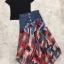 เสื้อผ้าเกาหลีพร้อมส่ง Sheila Black Top + Denim Skirt thumbnail 8