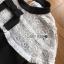ชุดเดรสเกาหลีพร้อมส่ง เดรสผ้าลูกไม้และผ้าเครปสีขาว-ดำต thumbnail 9