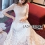 Eves Princess Style White Lace Dress thumbnail 4