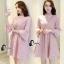 ชุดเดรสเกาหลี พร้อมส่งmini dress สีชมพูพาสเทล ทรงไฮโซหรูหรา thumbnail 5
