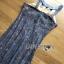ชุดเดรสเกาหลี พร้อมส่งเดรสผ้าลูกไม้สีฟ้าตกแต่งเลื่อมสีเงินเหลือบ thumbnail 14