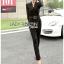 เสื้อผ้าเกาหลี พร้อมส่งจัมป์สูทสีดำตกแต่งลูกไม้สไตล์สมาร์ทแคชชวล thumbnail 3