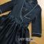เสื้อผ้าเกาหลี พร้อมส่งเชิ้ตเดรสตกแต่งกระโปรงระบายเพบลัม thumbnail 16