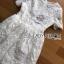 ชุดเดรสเกาหลี พร้อมส่งเดรสผ้าลูกไม้สีขาวสไตล์คลาสสิกสุดหวาน thumbnail 10