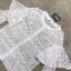 เสื้อผ้าเกาหลี พร้อมส่งเสื้อลูกไม้สีขาวล้วนกระดุมหน้า thumbnail 7