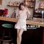 เสื้อผ้าแฟชั่นเกาหลีพร้อมส่ง เซตเสื้อลูกไม้ปักแขนกุดคอกลมมาพร้อมกับกางเกงลูกไม้ thumbnail 3