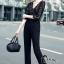 เสื้อผ้าเกาหลี พร้อมส่ง Luxury Black Lace Jumpsuite - Jumpsuite thumbnail 2
