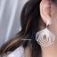 พร้อมส่ง Diamond Earring ต่างหูเพชร CZ แท้ งานเกรดตู้เพชร ดีไซส์ modern thumbnail 6