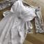 ชุดเดรสเกาหลี พร้อมส่งเดรสผ้าทูลล์ปักลายและตกแต่งมุกสุดหวาน thumbnail 17