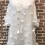 ชุดเดรสเกาหลีพร้อมส่ง เดรสสีขาวปักผีเสื้อ 3D เป็นแบบเว้าช่วงไหล่ thumbnail 8