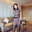เสื้อผ้าแฟชั่นเกาหลีพร้อมส่ง เซ็ตกางเกงขายาวทั้งเนื้อผ้าและคัตติ่งอย่างดี thumbnail 3