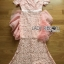ชุดเดรสเกาหลี พร้อมส่งเดรสผ้าลูกไม้สีชมพูอ่อนตกแต่งระบายผ้าออร์แกนซ่า thumbnail 9