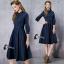 ชุดเดรสเกาหลี พร้อมส่งdress. สีดำ ผ้า cotton thumbnail 9