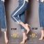 เสื้อผ้าสเกาหลีพร้อมส่ง กางเกงยีนส์ทรงกระบอก ผ้ายีนส์ฮ่องกง thumbnail 8
