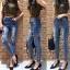 เสื้อผ้าเกาหลีพร้อมส่ง กางเกงยีนส์เอวสูงทรงสกินนี่ สไตล์ Zara thumbnail 5