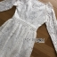 ชุดเดรสเกาหลี พร้อมส่งเดรสผ้าลูกไม้สีขาวตกแต่งกระดุมมุกสไตล์เจ้าหญิง thumbnail 8