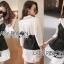 เสื้อผ้าเกาหลี พร้อมส่งเชิ้ตเดรสผ้าคอตตอนสีขาวทับด้วยสายเดี่ยวสีดำลายทาง thumbnail 13