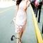 ชุดเดรสเกาหลี พร้อมส่งMini dress ลูกไม้แจนสั้นเนื้อถัก thumbnail 2