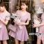 ชุดเดรสเกาหลี พร้อมส่งมินิเดรสตกแต่งผ้าพลีตสีชมพูอมม่วงอ่อนสุดหวาน thumbnail 5