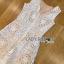 ชุุดเดรสเกาหลี พร้อมส่งจัมป์สูทผ้าลูกไม้สีขาวสไตล์สามร์ทแคชชวล thumbnail 12