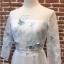 ชุดเดรสเกาหลี พร้อมส่งlong dress ผ้ามุ้งแขน 5 ส่วน thumbnail 10