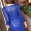 ชุดเดรสเกาหลี พร้อมส่งlong dress คอวี แขนยาวปักเลื่อมทั้งตัว thumbnail 10