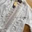 เสื้อผ้าเกาหลี พร้อมส่งเสื้อคลุมผ้าคอตตอนสีขาวชายพู่ปักลายสไตล์โบฮีเมียน thumbnail 10