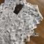 เสื้อผ้าเกาหลีพร้อมส่ง เสื้อผ้าลูกไม้ขาวทรงแขนกุดพร้อมซับในสีนู้ด thumbnail 15