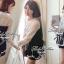 เสื้อผ้าเกาหลีพร้อมส่ง เสื้อแขนยาวแต่งลูกไม้ See Through thumbnail 3